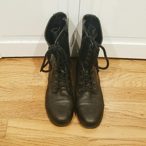 Target Black Lace Up Combat Boots